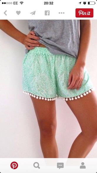 shorts blue cute summer nice boho blue shorts