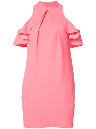 dress ruffle dress ruffle women spandex purple pink