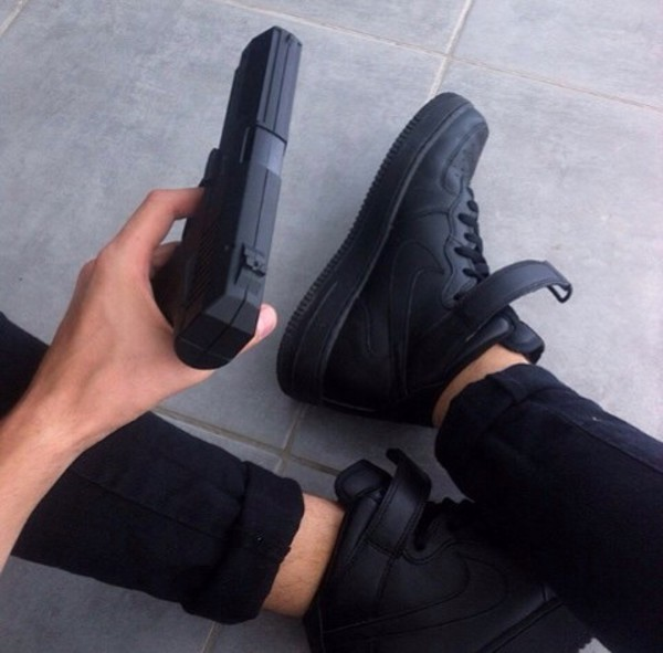 nike air force 1 mid gs black office girl air force 1 office