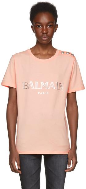 Balmain t-shirt shirt t-shirt pink top