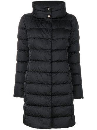 coat feathers women black