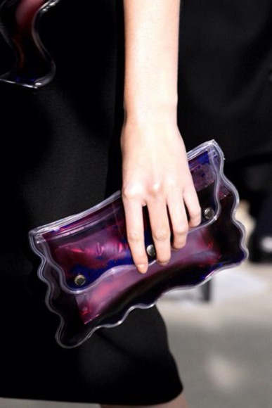 clutch bag see through