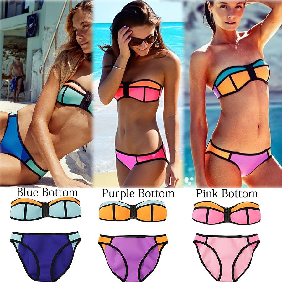 Women's Summer Bikini Set Swimsuit Bathing Suit Bandeau ...