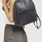 Faux leather simple backpack