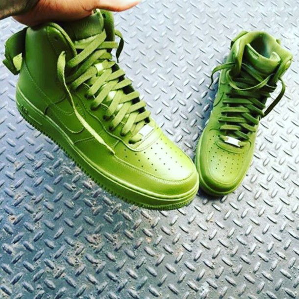 size 40 e73db b2551 Avocado High Top Air Force 1's