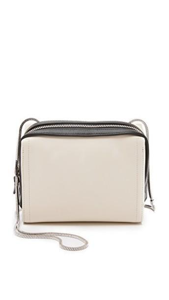3.1 Phillip Lim cross mini zip bag white black