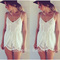 J1 2014 free shipping fashion flower lace jumpsuit v neck casual palysuit sexy women rompers-in jumpsuits & rompers from apparel & accessories on aliexpress.com | alibaba group