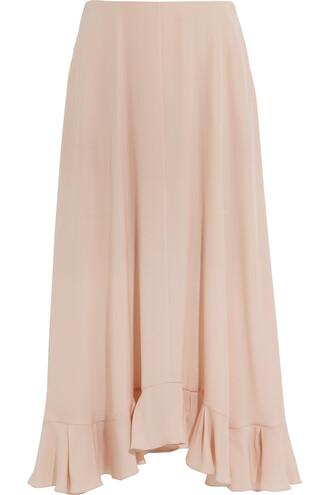skirt maxi skirt maxi silk blush