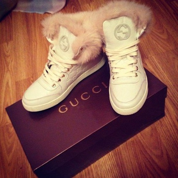 shoes sneakers white luxury gucci winter