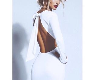 backless dress white dress