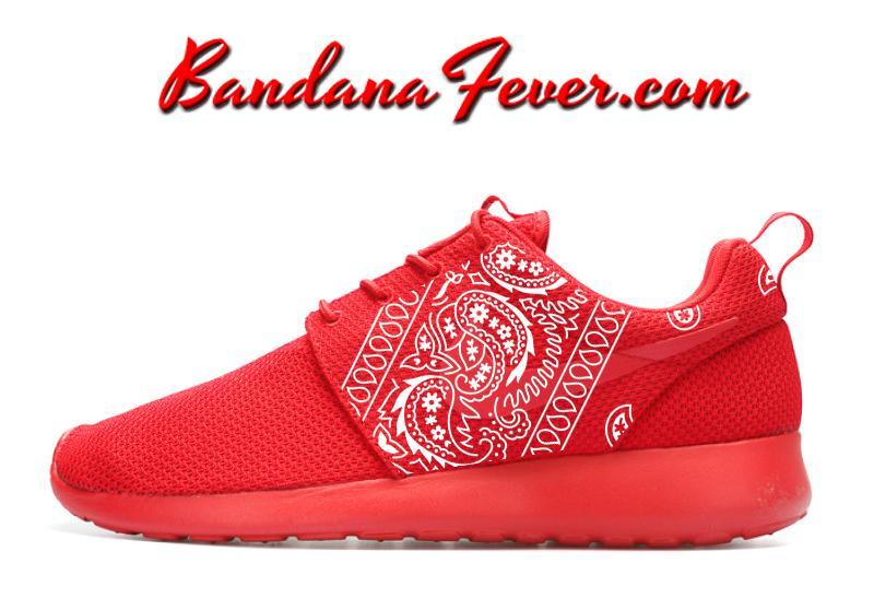 White Bandana Nike Roshe Run Shoes