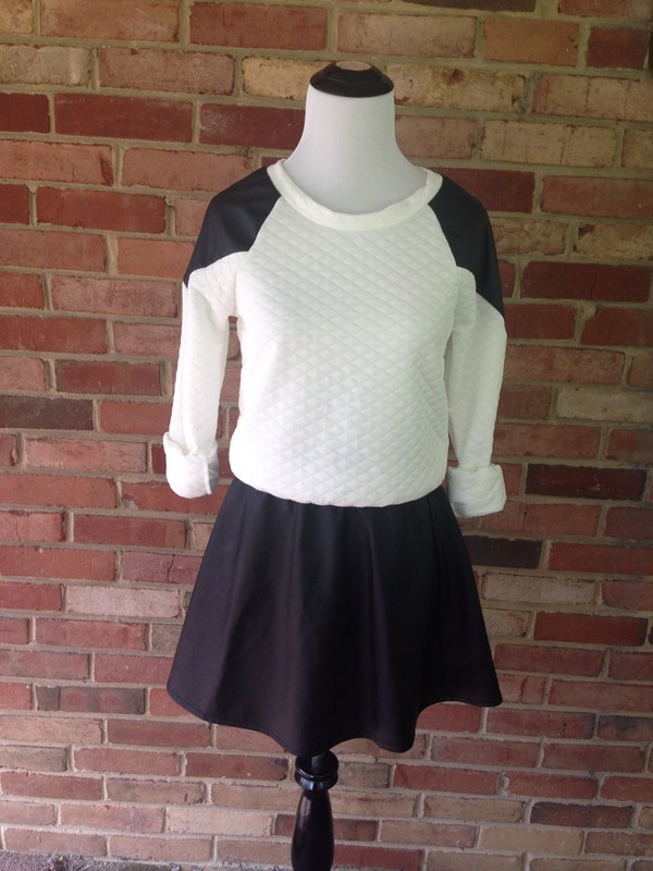 top black and white sweatshirt with leather black and white sweatshirt t with  leather