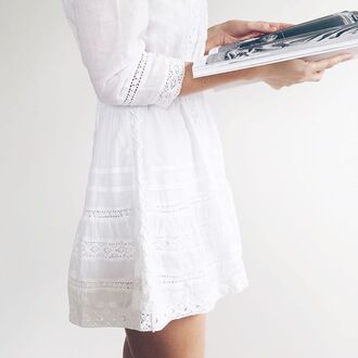 dress tularosa white white dress lace dress lace white lace short dress long sleeves long sleeve dress boho chic boho boho dress bohemian hippie revolve clothing revolveme