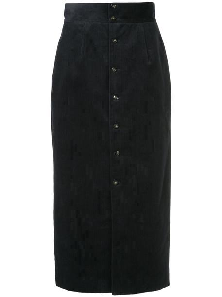 Cityshop skirt high women cotton blue