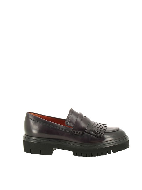 Santoni chunky sole loafers shoes