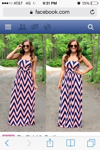 pink dress black long dress tribal print dress bustier dress zig zag pattern