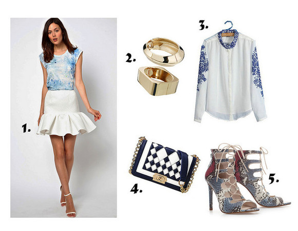 blouse blue blouse clothes blue summer bag persunmall fashion follow dress high heels