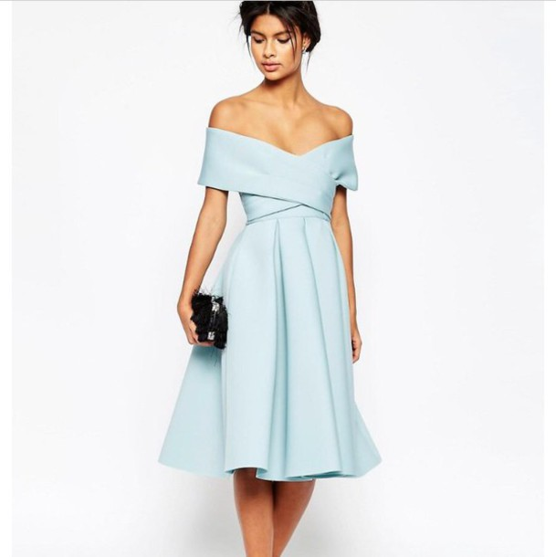 Dress blue blue dress dress blue light blue dresses for Baby blue wedding guest dress