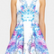 Botanical haze skater dress | nicholas | white
