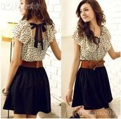 dress,blouse,skirt,belt,shirt,t-shirt,clothes,casual,black,white,backless,lace,pajamas,polka dots,black dress,bow,short dress