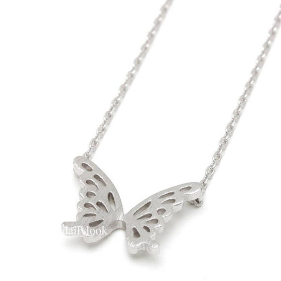butterfly jewels butterfly necklace bird necklace silver necklace bridesmaid gift cute necklace girls necklace minimalist necklace