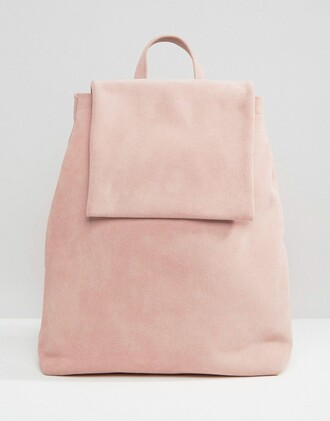 bag pink bag pastel bag suede bag suede backpack pink backpack minimalist bag