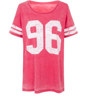 Pink 86 Baseball Burnout Top