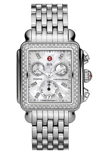 MICHELE 'Deco Diamond' Watch Case & 18mm Bracelet | Nordstrom