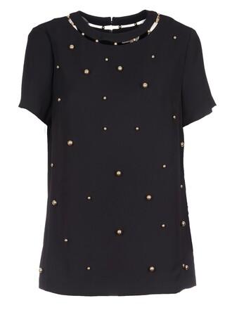 top embellished top embellished black