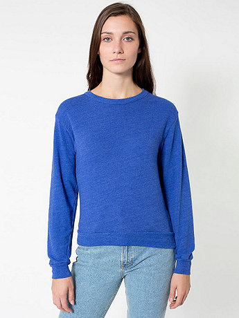 Unisex French Terry Drop-Shoulder Sweatshirt | American Apparel