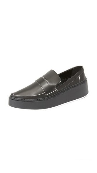 noir loafers shoes