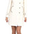 SOIA & KYO REN CLASSIC IVORY FITTED WOOL COAT WITH FUR COLLAR | Emprada
