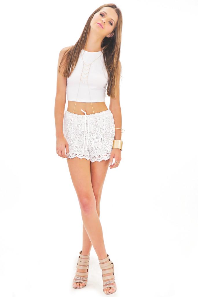 Simone crochet shorts   haute & rebellious