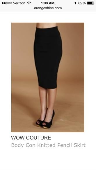 skirt black skirt pencil skirt bodycon bodycon skirt wow couture