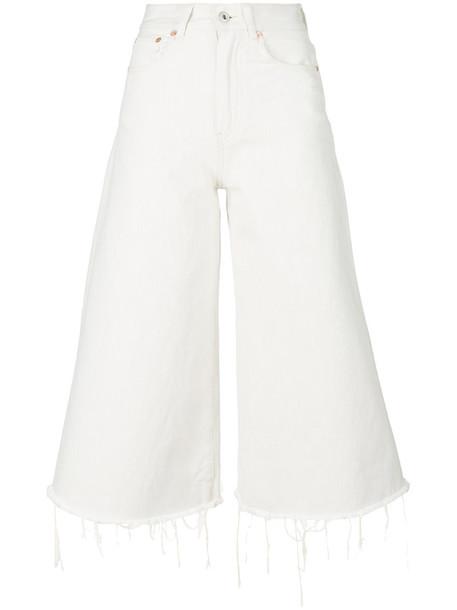 Off-White cropped women white cotton 24 pants