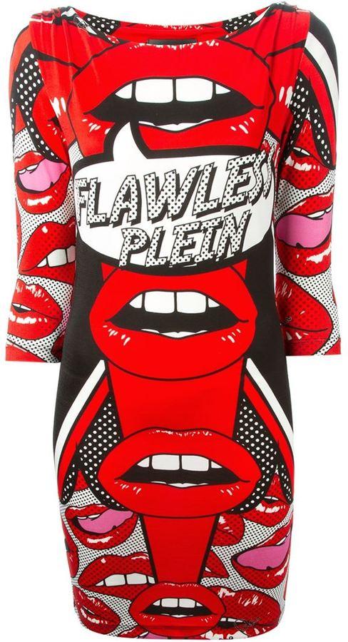 Philipp plein kiss print dress