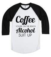 t-shirt,coffee,bench,alcohol,suit up,beer,wine,vodka,rum,funny,shirt,party,drunk,drink