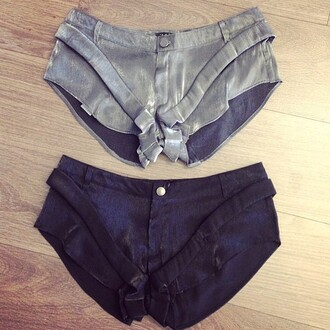 shorts zhivago sexy sexy shorts black shorts silver shorts black silver online shop boutique highfashion love summer outfits