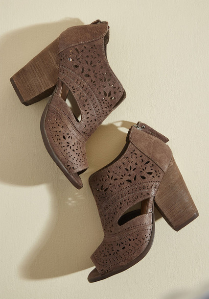 block heels booties heels leather taupe shoes