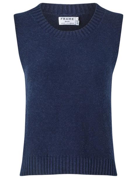 sweater sleeveless navy
