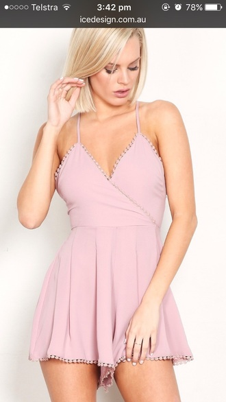 jumpsuit pink pink dress fashion is a playground