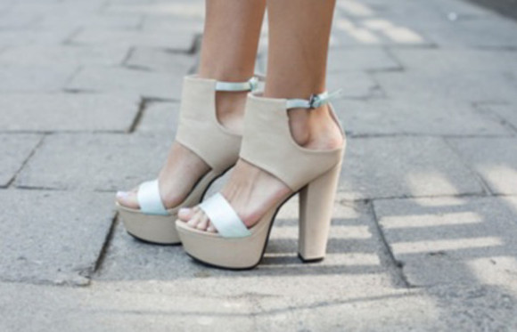 shoes nude high heels nude sandals nude and white ankle heels, 5 inch