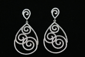 jewels white jewels jewelry boucle d'oreille bijoux spiral