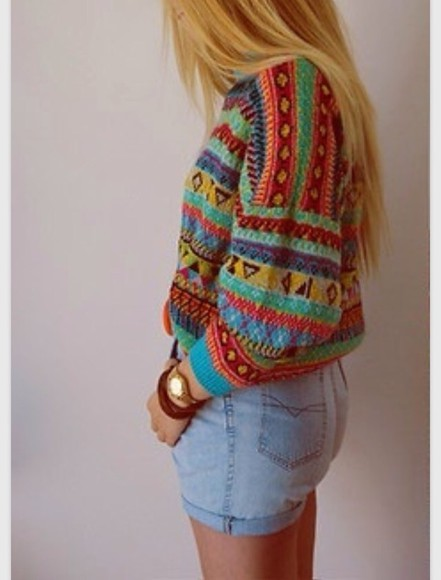 aztec jumper colour knit