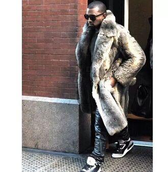 coat fur coat long fur coat