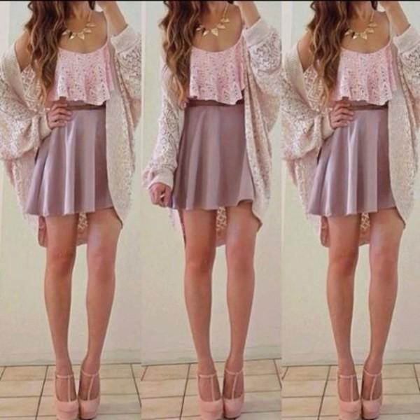 blouse shirt skirt shoes