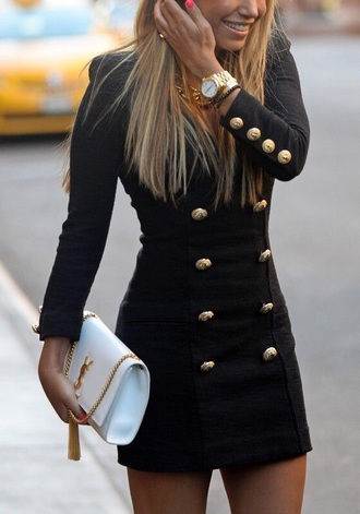 dress black dress coat jacket