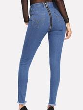 jeans,girly,denim,blue,zip,zipped pants,zip jeans
