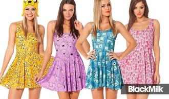 dress bemo purple dress adventure time prom dress lsp lumpy space princess light blue yellow princess bubblegum pink