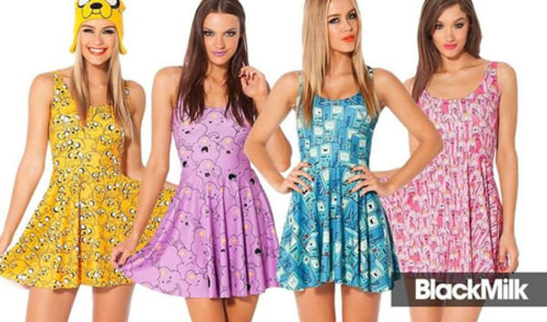dress bemo purple dress adventure time prom dress lsp lumpy space princess light blue yellow princess bubblegum pink